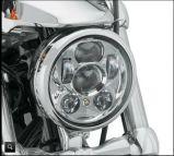 """9PC LED 5.75 (negros) """" redondo para la linterna de Daymaker de la proyección de las motocicletas de Harley Davidson LED"""