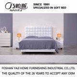 Кровать софы самомоднейшей конструкции с кожаный крышкой для мебели G7011 спальни