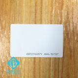 Cartão de contato Chip RFID Tk4100 de PVC com número de série