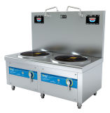 Плита супа индукции эффективного топления горелок большой емкости 2 глубокий