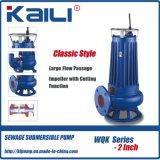 3' WQK Pompe submersible des eaux usées de coupe