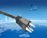 tipo aparelho electrodoméstico de 3-Pin Brasil do plugue do cabo de extensão