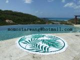 Toalla de playa del círculo con el algodón 100%