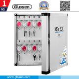 32 llaves caja de almacenamiento de seguridad con llave de metal potable con bloqueo
