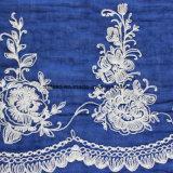 ポリエステルによって染められる刺繍のレースのスカーフ(AJC10003987)