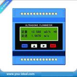 Compteur de débit ouvert ultrasonique ultrasonique de la Manche de compteurs de débit de précision de compteur de débit