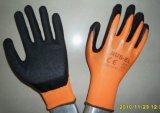 Nylonzwischenlage-Latex-überzogene Handschuhe (GS-015)