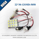 indicatore luminoso della lettura di 22*30mm 12SMD 5050 LED per l'automobile