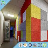 Tarjeta acústica del material de construcción del panel de pared del panel de la fibra del techo