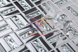 Серебр 15*48mm Titanium Crystal Art Glass Mosaic Tile (TC346)