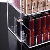 2 Schicht-Fach-Typ langer Lippenstift-kosmetischer Ablagekasten