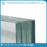 Bâtiment de la sécurité décoratifs clair à plat en verre feuilleté trempé
