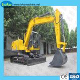 Fábrica de miniexcavadora de Ruedas hidráulicas de 8,5 toneladas/excavadora de cadenas