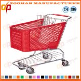 Trole de compra das rodas do metal 4 que dobra o carro de compra forte (Zht156)