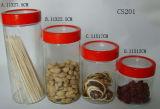 Frascos de armazenamento de vidro transparente (CS201)
