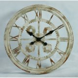 Orologio di parete industriale del metallo dell'oggetto d'antiquariato domestico della decorazione