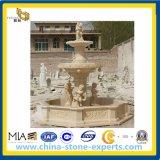 L'Égypte marbre beige Jardin Pierre Fontaine à eau