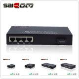 Interruptor ótico da rede Ethernet porta de 1 gigabit e porta de 9 fibras