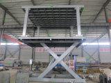 Plataforma de levantamiento del coche hidráulico con la cubierta doble