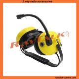 Шум сверхмощного желтого цвета шлемофона высокий отменяя шлемофон