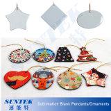 Sublimation-Weihnachtsanhänger-/-verzierung-unbelegte keramische Dekorationen