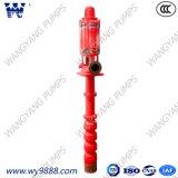 Pompe à eau verticale électrique d'incendie de turbine de puits profond de Ligne-Arbre