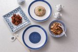 De Blauwe en Witte Kleur van uitstekende kwaliteit om de Plaat van het Diner