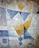 Huile sur toile abstraite 0124