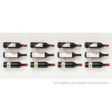 Le vin fixé au mur d'étalage de seul nécessaire de Pin cheville la crémaillère de bouteille de vin