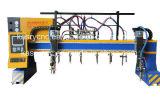 Metal de folha do pórtico/placa de aço/máquina de estaca lisa da flama do plasma do CNC do aço em barra