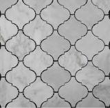 Hexagon/Basketweave/Herringbone/französische Muster-Fußboden-/Wand-weiße Marmormosaiken für Badezimmer-Bodenbelag-Fliesen