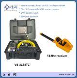 Водонепроницаемый канализационные трубы инспекционная камера с счетчик и TC8-3188Trasnmitter (V)