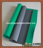 Couvre-tapis en caoutchouc de yoga de bande de feuille, couvre-tapis d'étage de bande, étage en caoutchouc de bande