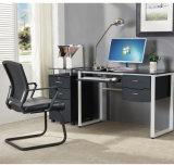 본사 가구 키보드와 서랍을%s 가진 사무실 연구 결과를 위한 유리제 컴퓨터 책상