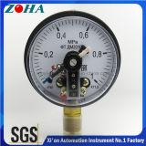 Calibrador de presión eléctrico del contacto con límite superior y más inferior