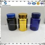Frasco plástico do animal de estimação 250cc azul quente da venda para o empacotamento químico