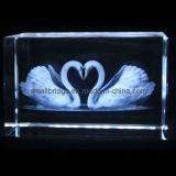 Cisne cristalino 3D