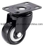 1.5-2.5 인치 E 코팅 부류를 가진 가벼운 의무 PVC 피마자 바퀴