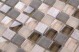 Qj005 Foshan 8mm de Tegel van het Mozaïek van de Steen van de Mengeling van het Glas van de Kleur 15X15 van de Mengeling van de Dikte
