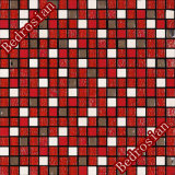 モザイク氷割れた及び石造り及びステンレス鋼の赤(MGDGSF609)
