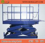 La plataforma de la elevación de mercancías Scissor la elevación del muelle