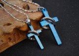 新しい方法パーソナリティー高品質のパンクは人の女性の恋人のカップルのためのリングのステンレス鋼のペンダントが付いている聖書の十字宝石類を卸し売りする