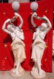 Dame Sculpture Marble Carving Light