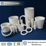 Rivestimento interno di ceramica del cono della conduttura del cilindro dell'allumina resistente a temperatura elevata