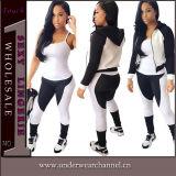 方法女性ズボンおよびブラウス(TOSM5112)の偶然のSportwearセット