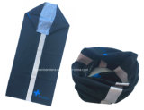 Sciarpa tubolare della guaina del collo dell'azzurro del poliestere personalizzata prodotti 25*50cm della fabbrica