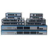 10/100m Sm única fibra SC20km 8 portas POE Switch de rede
