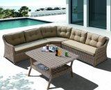 Sofa extérieur sectionnel de Justin de patio de rotin en osier extérieur de jardin (J610)