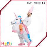 Drôle de façon gonflable populaire Unicorn Rider Halloween Costume pour adulte