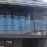 Frameless 판매를 위한 유리제 방책 현관 갑판 발코니 난간